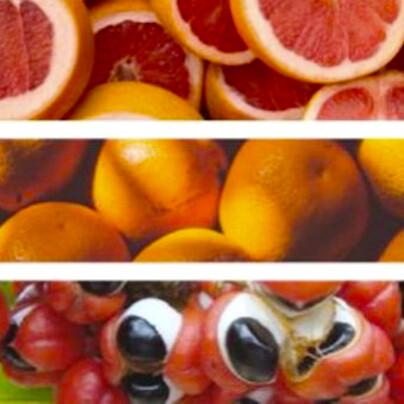 柑橘與瓜拿納萃取物來自天然的水果